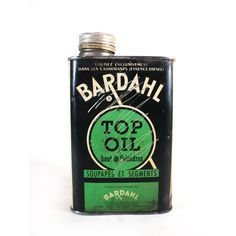 Small French BARDAHL TOP OIL Motor Oil Tin by LaBelleEpoqueDeco
