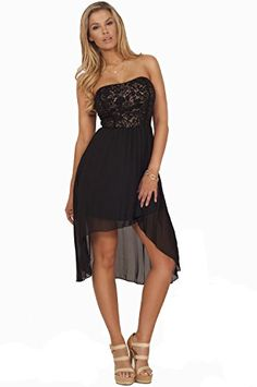 Sexy Romantic Strapless Flower Lace Overlay Sheer Pleated Hi-Low Elegant Dress Hot from Hollywood http://www.amazon.com/dp/B00L2NB2N8/ref=cm_sw_r_pi_dp_CjGzvb06D1KC1