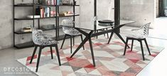 Wood and polycarbonate chair Saint Tropez W - Calligaris Santorini, Tapis Design, Wood Detail, Saint Tropez, Quality Furniture, Decoration, Matte Black, Designer, Dining Table