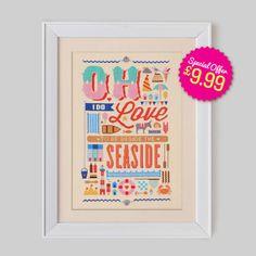 Seaside Love Cross Stitch Pattern (Digital Format - PDF)