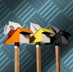 The Cool Hunter - Design Mailboxes that look like bird houses.