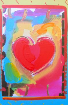 Peter Max Art, Buddhist Philosophy, Surreal Art, Surrealism, Fine Art, Landscaping, Hearts, Painting, Sweet
