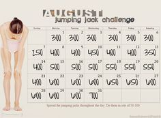 August Jumping jack Challenge.. Why not?