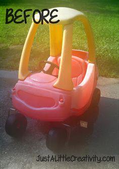 Just a little Creativity: Pimp that Cozy Ride- Little Tikes Car Makeover