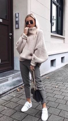 fall look halftime look casual look cold look ootd fall looks fall clothes fall outfit fall clothes casual look midi pants turtle sweater tennis outfit. Casual Winter Outfits, Winter Fashion Casual, Fall Outfits For Work, Casual Fall, Autumn Fashion, Winter Ootd, Winter Wear, Autumn Casual Outfits, Winter Chic