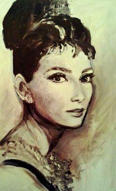 Audrey Hepburn , acryl on canvas, 50x80