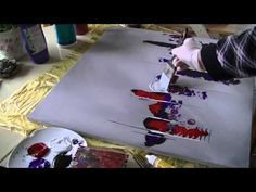 Acrylmalerei abstract acrylic painting Demo Abstraktes Bild malen /spachteln -spackle - YouTube