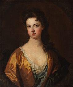 Una señora desconocida, ella tiene los hombros anchos distintivos, cintura pequeña y rasgos delicados que su marca como una dama refinada Stuart, fue pintada durante el reinado de Guillermo III quien es representado tres veces en los retratos de la colección de Attingham, de Michael Dahl