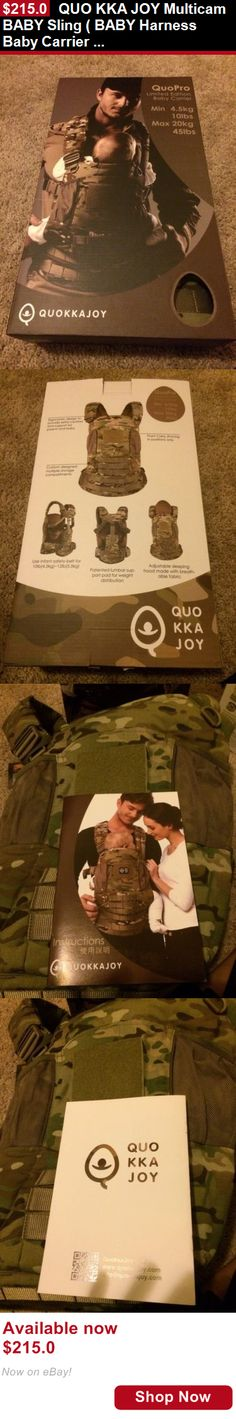 Toddler Safety Harnesses: Quo Kka Joy Multicam Baby Sling ( Baby Harness Baby Carrier Cp Arcteryx Leaf ) BUY IT NOW ONLY: $215.0