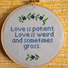 Love Cross Stitch Liz Lemon Corinthians by valeriestitchery