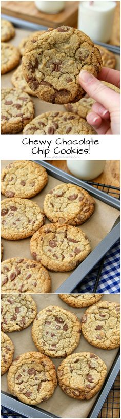 Chewy Chocolate Chip Cookies! ❤️ perfectly soft, chewy and crunchy at the same time.