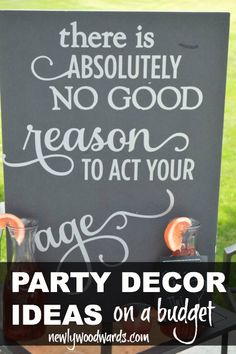 This is a fun and simple way to pack a big punch at parties - use a $1 black foam board from Dollar Tree with a personalized phrase in silver vinyl. Looks so much more difficult than it is. #silhouettedesignteam