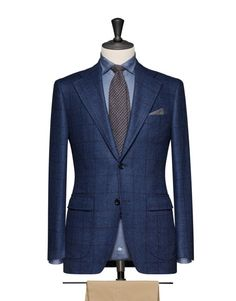Medium Blue With A Dark Blue Windowpane. Code 8200 Traje Azul Marino 0712c397ee6