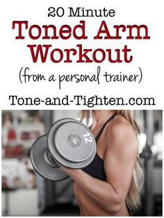 20 Minute Toned Arm Workout on Tone-and-Tighten.com