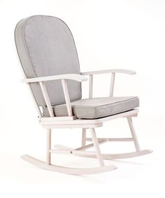 Mothercare Rocking Chair - White with Grey Cushion