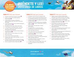 2015 Summer Reading Challenge Booklist - SPANISH VERSION, page 1. #summerreading