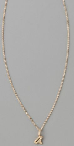 """Love this necklace for a new mommy with baby's  initial. In White Gold, Platinum, or even rose gold in letter """"A"""""""