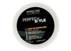 Cire de Modelage Brillante PERFECT STYLE Patrick Bar Professionnel 75 ml - Enrichie en provitamine B.