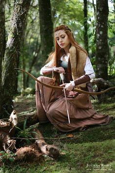 """Middle Earth"" Model: Vivian Fernandes Hair & Latex Elven Ears: Mahara Alberttoni Bow and Arrow: RD Arqueria MakeUp & Costumes: Juliana Robin Copyright Julaian Robin 2014"