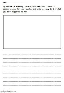Worksheets Substitute Teacher Worksheets perfect for sub plans my teacher is missing freebie make this super cute writing from melissa wilcox at