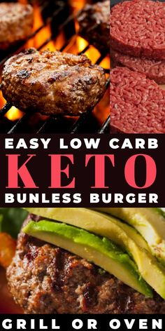This low carb ground beef burger recipe is super simple & perfect for the ketogenic diet! If you need a quick keto dinner recipe with ground beef, this low carb burger recipe is awesome! Only net carbs grilled or oven baked rea Keto Diet List, Ketogenic Diet Plan, Ketogenic Recipes, Keto Recipes, Dinner Recipes, Lunch Recipes, Easy Recipes, Yogurt Recipes, Shake Recipes