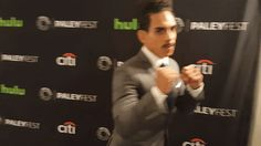 New party member! Tags: starz punching paleyfest paleyfest previews paley center ray santiago ash vs the evil dead