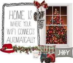 """""""Home is where your wifi connects automatically:)"""" by musicfriend1 on Polyvore"""