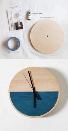 reloj pared DIY muy ingenioso 1