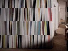 Papel de parede geométrico lavável de vinil WINGS - GLAMORA