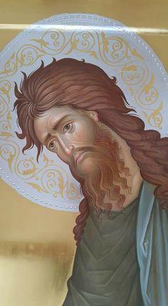 Byzantine Icons, Byzantine Art, John The Baptist, Religious Icons, Orthodox Icons, Sacred Art, Kirchen, Halo, Saints
