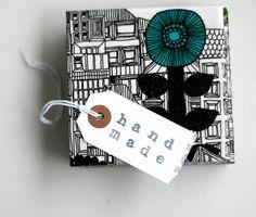 Ceramic Tile Coasters Marimekko City Graphical Black by Tilissimo, $25.00