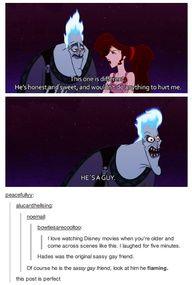 Hades is the original sassy gay friend!!