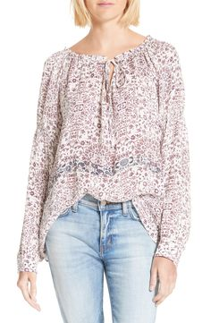 New L'AGENCE Crawford Floral Print Silk Blouse WATERFALL fashion online. [$375] new offer from topshoppingonline<<