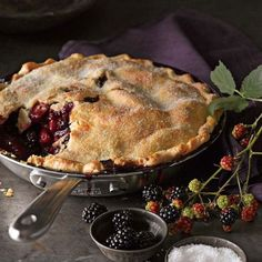 Eat Dessert First - Blackberry-Apple Pie Blackberry And Apple Pie, Blackberry Bramble, Easy Pie, Simple Pie, Sweet Pie, Pie Recipes, Skillet Recipes, Just Desserts, Sweet Tooth