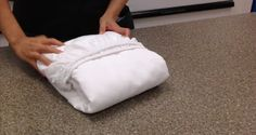 How to fold a fitted sheet... And