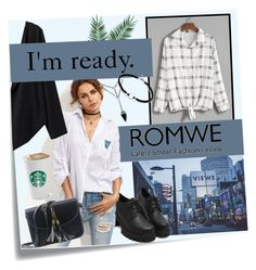 """Ready with Romwe"" by srebrnisnijeg ❤ liked on Polyvore featuring Post-It and Nika"