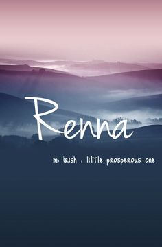 Renna - cool baby girl name!