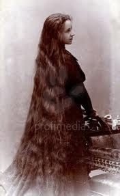 Victorian lady with Long hair, beautiful!