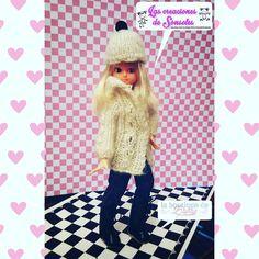 #chabel 2.0 vestida por @lascreacionesdesonsoles y  calzada por La Boutique de Blythe  #chabelfeber #chabeldoll #febertoys #dollhouse #chabelXXI