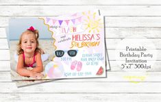 Excited to share the latest addition to my #etsy shop: Pool party birthday invitation, Watercolor invitation, Summer invitation, Summer invitation with photo http://etsy.me/2pxRo7c #papergoods #birthday #poolparty #invitation #summerinvitation #poolpartytheme #watercol