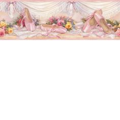 Wall Borders, Wallpaper Borders, Paintable Wallpaper, Room Store, Reproduction, Girls Rules, Floral Border, My Room, Slippers
