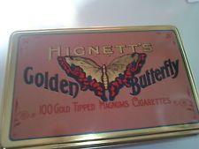 SCATOLA IN LATTA FABBRI EDITORI SIGARETTE GOLDEN BUTTERFLY 20X12 CM