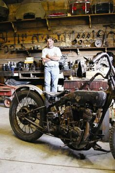 Motorcycle garage #wheelsthroughtime