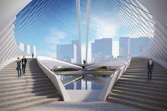 Xianbi Bridge. Courtesy of Santiago Calatrava