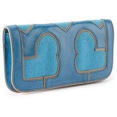 T CLUTCH  :  blue handbag fashion clutch