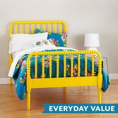 Jenny Lind Yellow Bed  | The Land of Nod