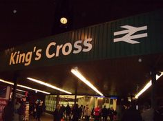 King's Cross Station, London.  On our two week UK vacation we left from this station on the overnight to Edinburgh.  The Hogwarts Express was 2 and 3/4 tracks over.