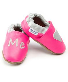 Take a look at this Pink Love Me Booties by SKEANIE on #zulily today!