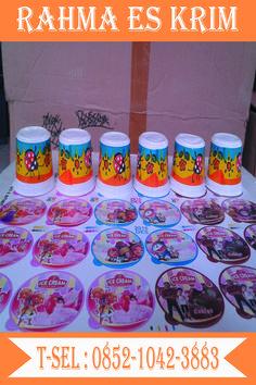 Cup Es Krim Plastik Ukuran 100ml murah dan lucu
