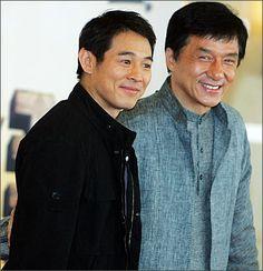 Jet Li y Jackie Chan. Dos de los actores de Kung Fu.